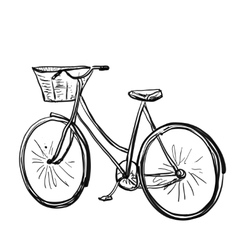 Cartoon of bicycle vector