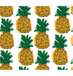 cartoon pineapple on a white background simple vector image