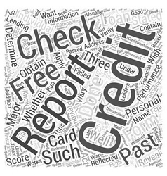 Check credit free score Word Cloud Concept vector