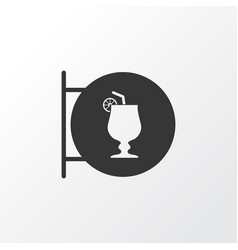 cocktail sign icon symbol premium quality vector image