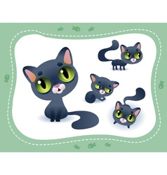 Collection of cartoon cats vector