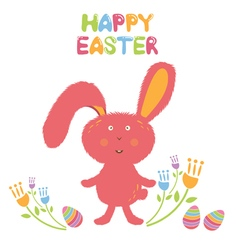 Concept Happy Easter card for hipsters vector
