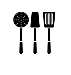 cooking tableware black icon sign on vector image