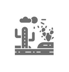 country landscape desert grey icon isolated vector image