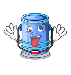 Crazy bucket cylinder water in shape character vector