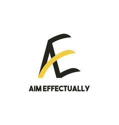 Creative modern monogram logo letter a e simple vector