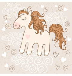 Cute horse vector image
