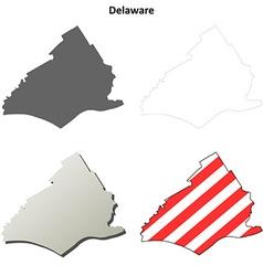 Delaware Map Icon Set vector