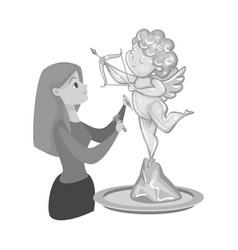 Design sculpture and ice symbol vector