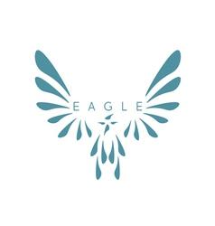 design template abstract bird eagle vector image