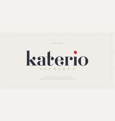 Elegant alphabet letters font classic modern vector