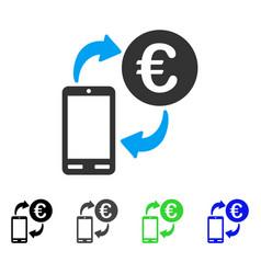Euro mobile exchange flat icon vector