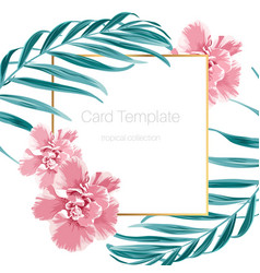 exotic camelia flowers and green tropical jungle vector image