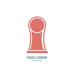 female condom icon vector image