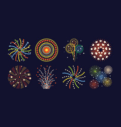 firework different shapes colorful festive and vector image