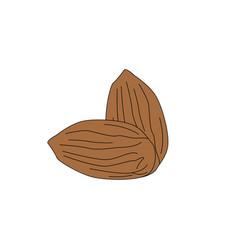Flat almond eps 10 vector