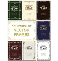 frame set art deco geometric ethnical vector image