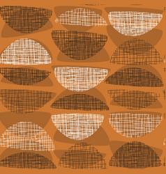 Geometric midcentury style orange textured rapport vector