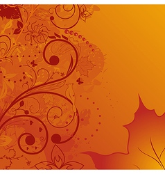 grunge autumn background element for design vector image