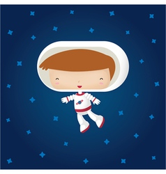 Happy Astronaut vector image