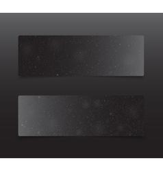 Horizontal Rectangle Black Banners Snow Winter vector image