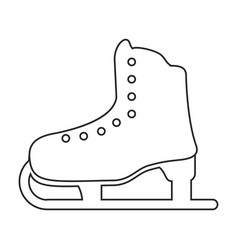 ice skate sport leisure thin line vector image