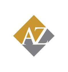 Initial az rhombus logo design vector