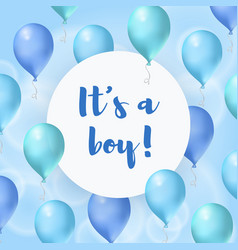 its a boy bashower greeting card vector image