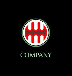 Letter mw alphabetic logo design template ellipse vector