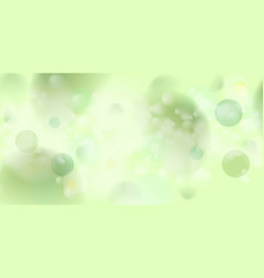 light green abstract shiny bokeh background vector image