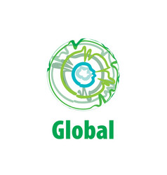 logo globe vector image