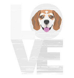 Love beagle vector