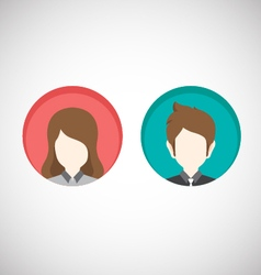 Male and female icons flat style vector