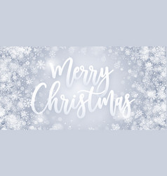 merry christmas greeting card blue abstract vector image