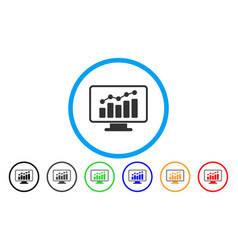 Monitoring rounded icon vector