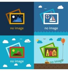 No image creative vector image