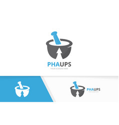 pharmacy and arrow up logo combination vector image