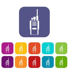 Radio icons set vector