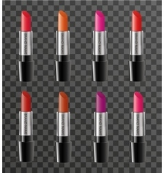 Realistic lipstick package template for your vector