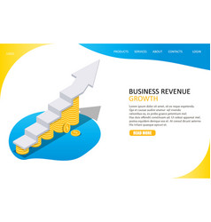 revenue growth landing page website vector image