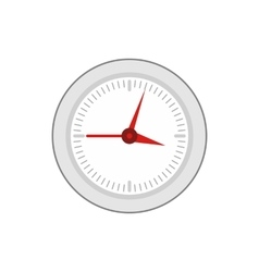 Round wall clock with red arrows icon flat style vector image vector image