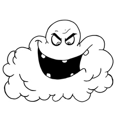 Royalty Free RF Clipart Cartoon Black Cloud Of vector image