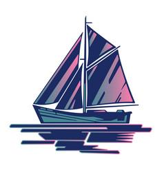 sailing boat logo vector image