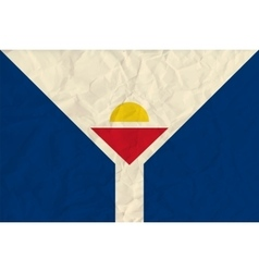 Saint-Martin paper flag vector