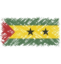 Sao Tome and Principe grunge flag vector image