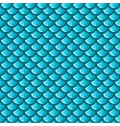 Seamless blue river fish scales vector image vector image