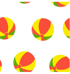 seamless pattern with beach balls vector image