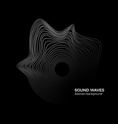 sound waves abstract background music equalizer vector image