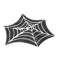 Spiderweb halloween decorative icon vector