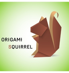 Squirrel origami vector